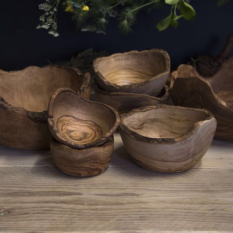 Olive wood Rustic salad bowl