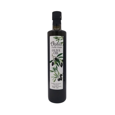 Greek Koroneiki olive oil in dark bottle 750ml