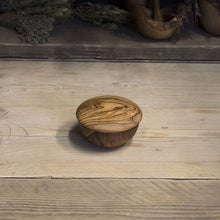 Load image into Gallery viewer, Olive wood sugar/salt bowl with lid - Be Natural Products