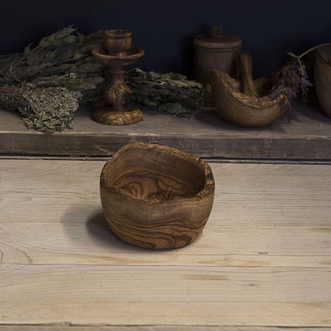 Olive wood rustic bowl
