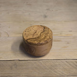 Olive wood pot with twist magnetic lid - Be Natural Products