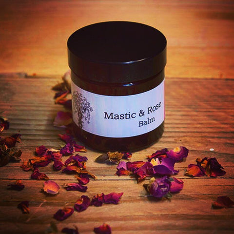Mastic and rose balm