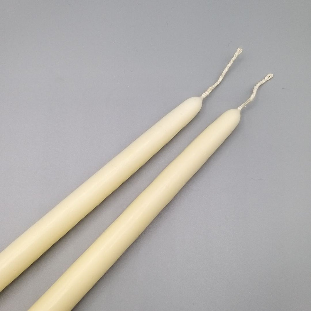 Ivory Tapered Candles x 2