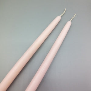 Pink Tapered Candles x 2
