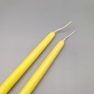 Yellow Tapered Candles x 2