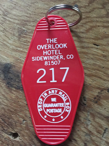THE OVERLOOK HOTEL ROOM 217 KEY TAG KEYCHAIN