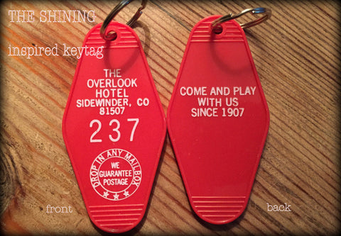 THE OVERLOOK HOTEL The Shining ROOM 237 KEYCHAIN