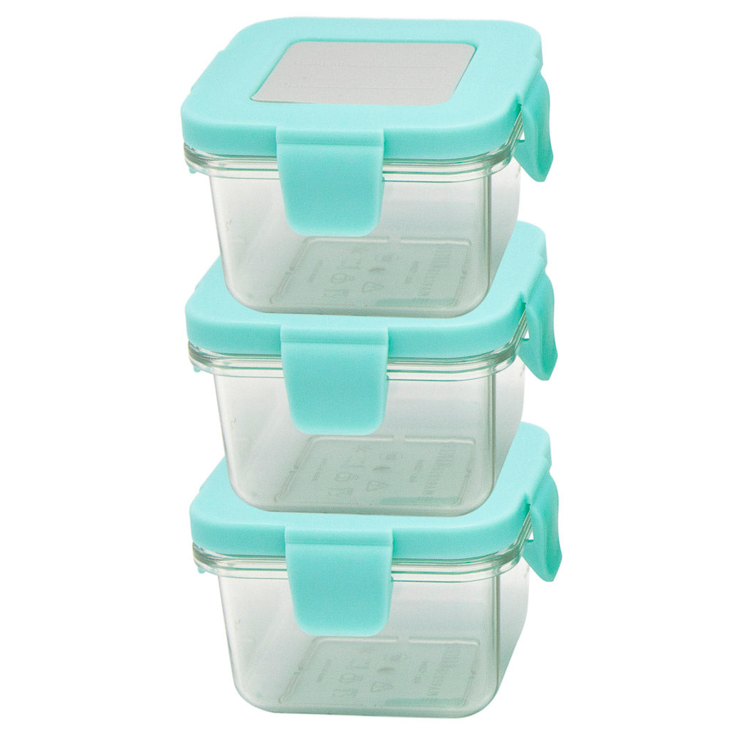 Marcus & Marcus Tritan Air Tight Container - 4oz x 3pcs