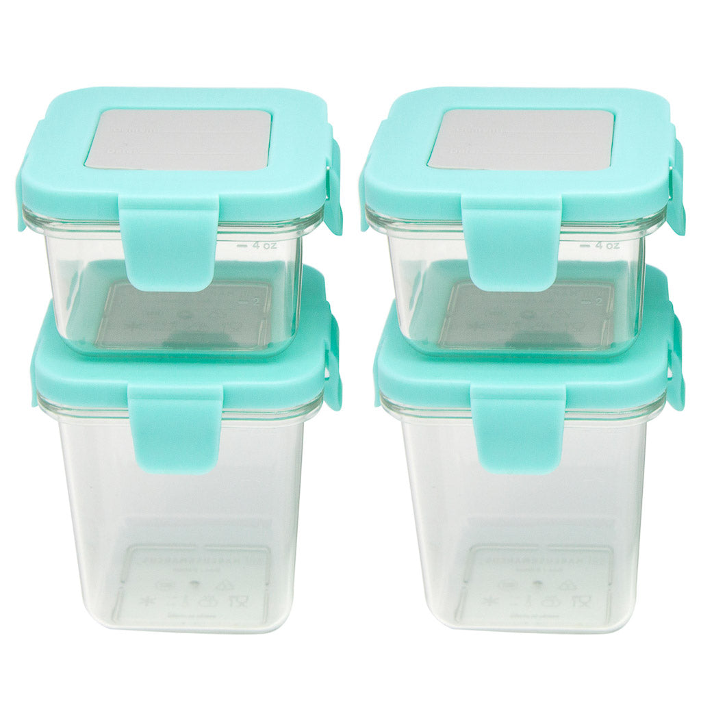 Marcus & Marcus Tritan Air Tight Container - 4oz x 2pcs + 8oz x 2pcs