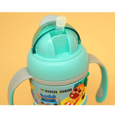 Marcus & Marcus 2-stage Tritan Straw Bottle - Blue
