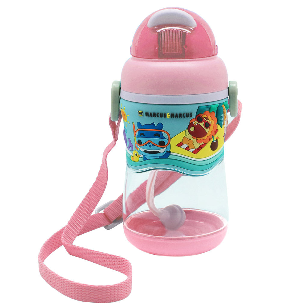 Marcus & Marcus 2-stage Tritan Straw Bottle - Pink