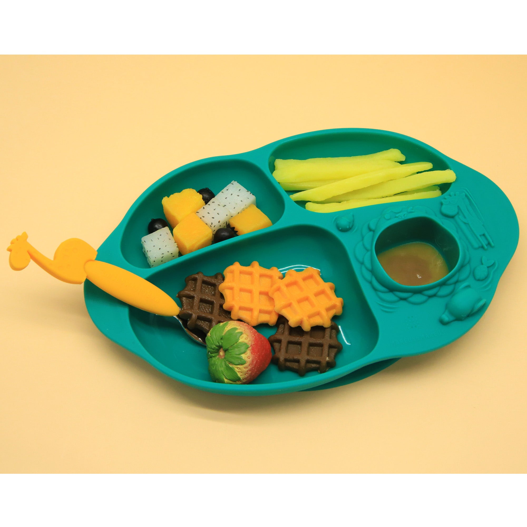 Marcus & Marcus Yummy Dips Suction Divided Plate - Ollie