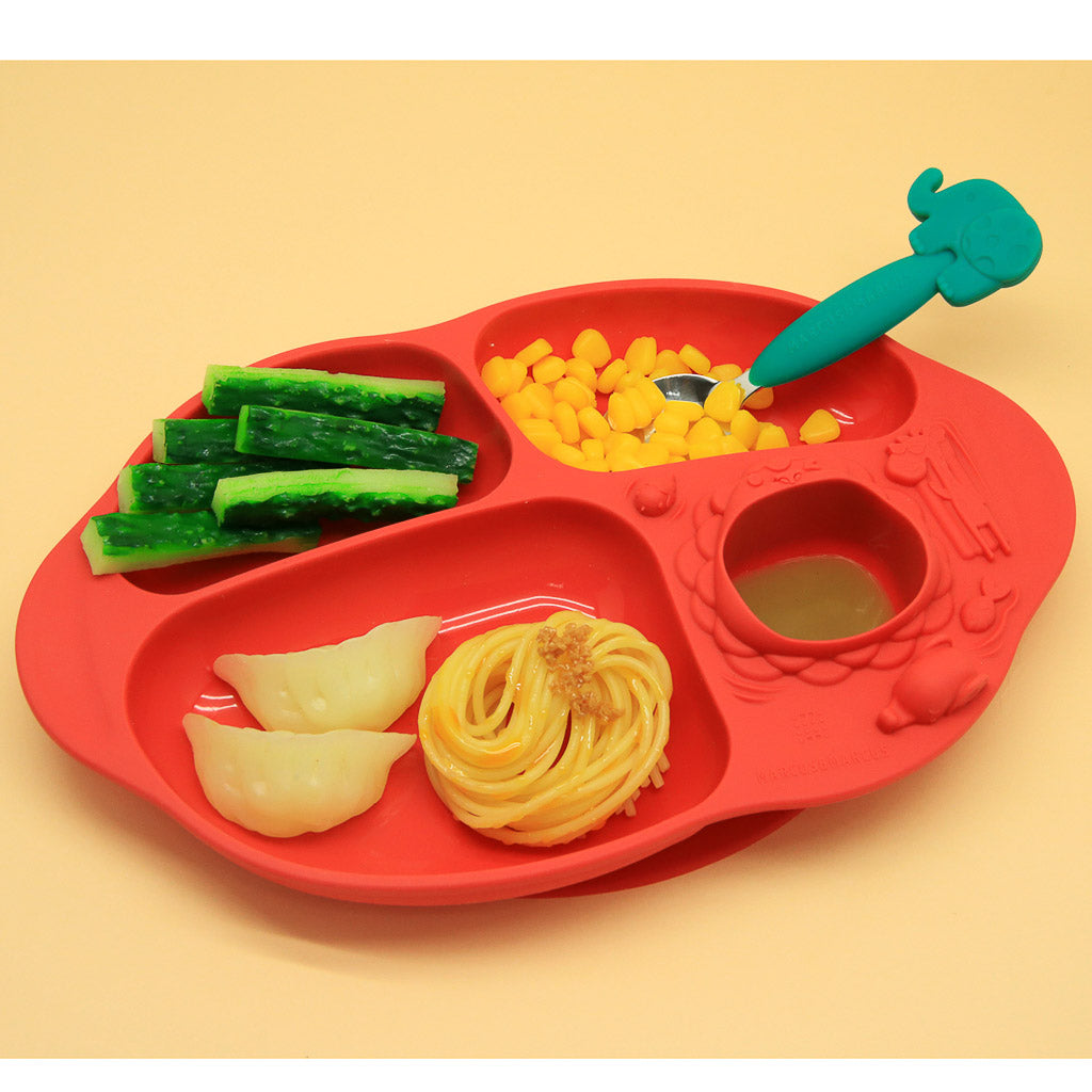Marcus & Marcus Yummy Dips Suction Divided Plate - Marcus