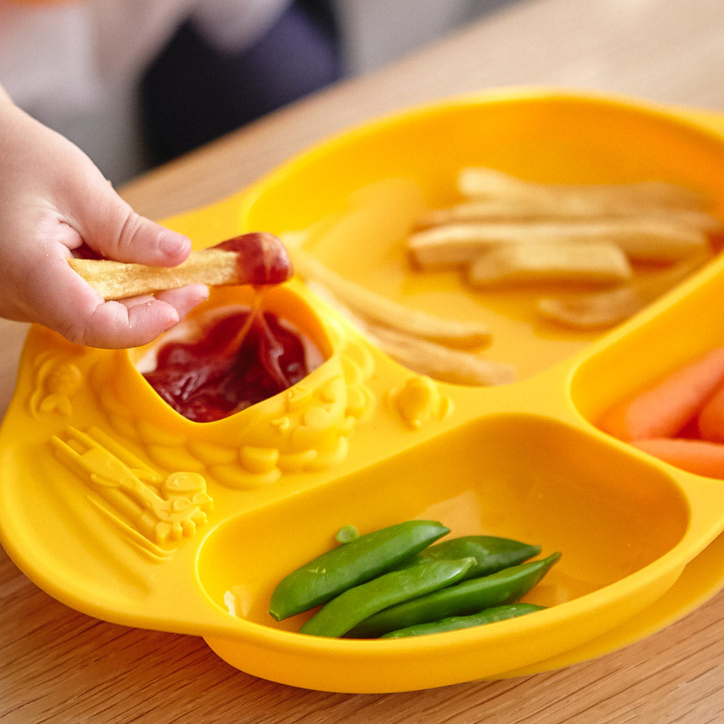 Marcus & Marcus Yummy Dips Suction Divided Plate - Lola