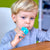 Marcus & Marcus Palm Grasp Toddler Training Toothbrush - Blue