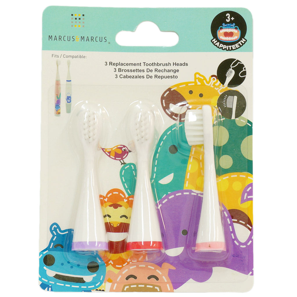 Marcus & Marcus Replacement Toothbrush Heads (Pokey, Marcus, Willo)