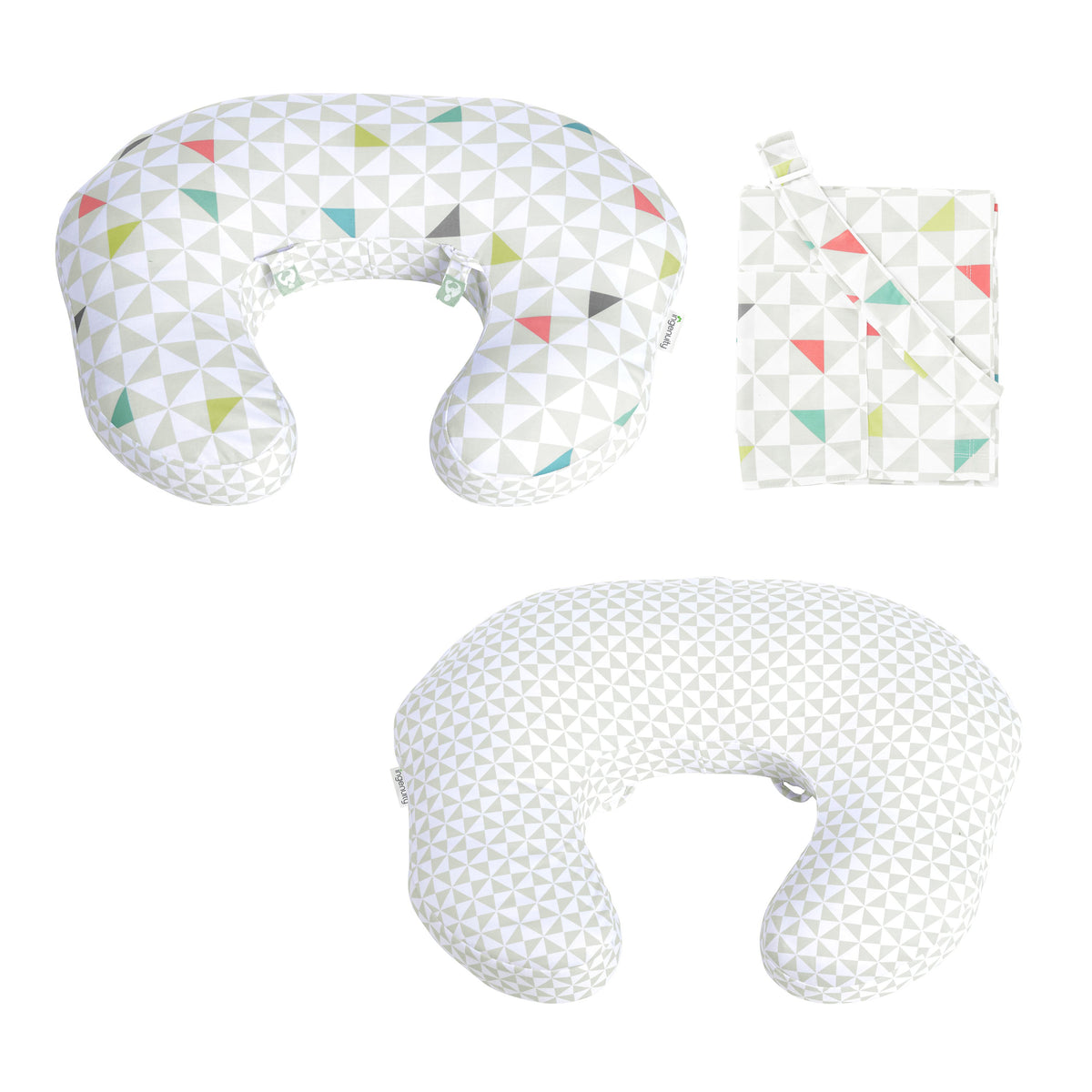 Ingenuity BS11819 Plenti Nursing Pillow Set - Colorful Gem - includes Pillow & Cover