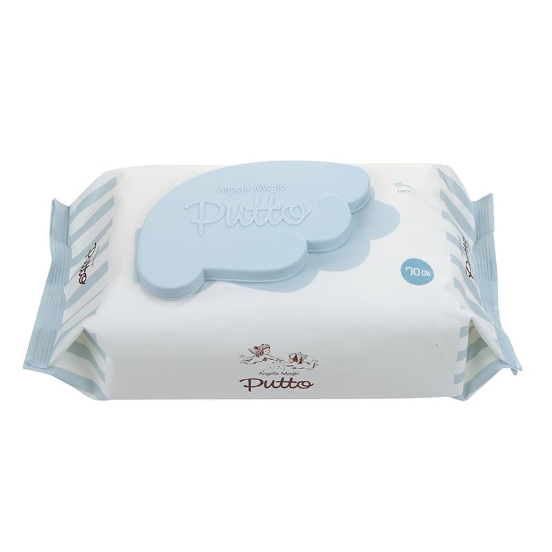 Putto Secret Premium Embossing Baby Wet Tissue w/CAP 70 sheets x 6 Packs