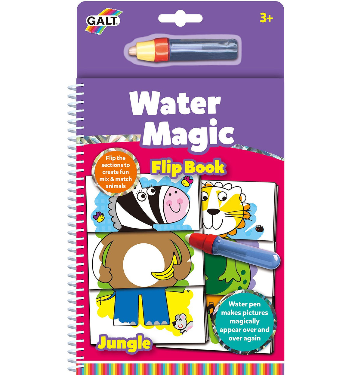Water Magic Flip Book - Jungle - Galt
