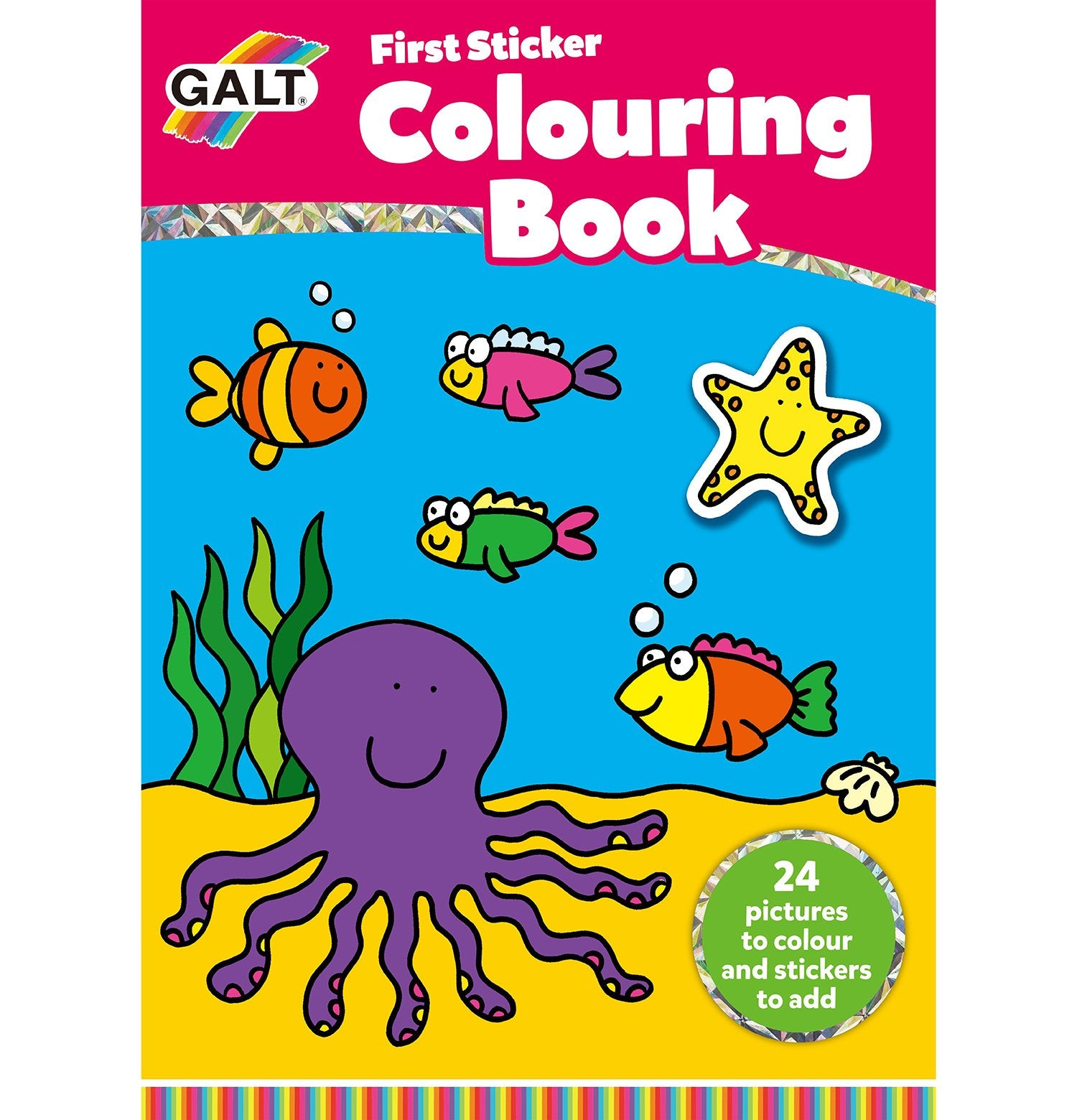 First Sticker Colouring Book - Galt