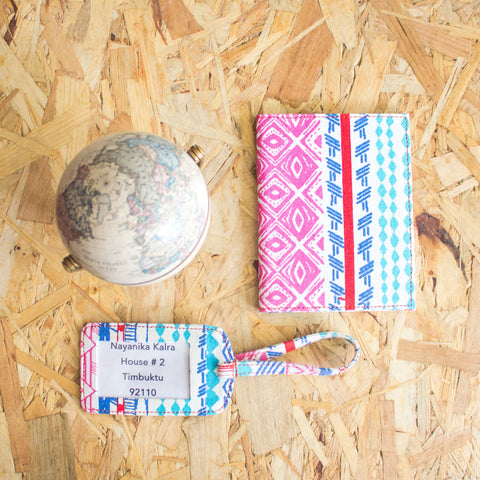 WANDERLUST PASSPORT CASE AND LUGGAGE TAG