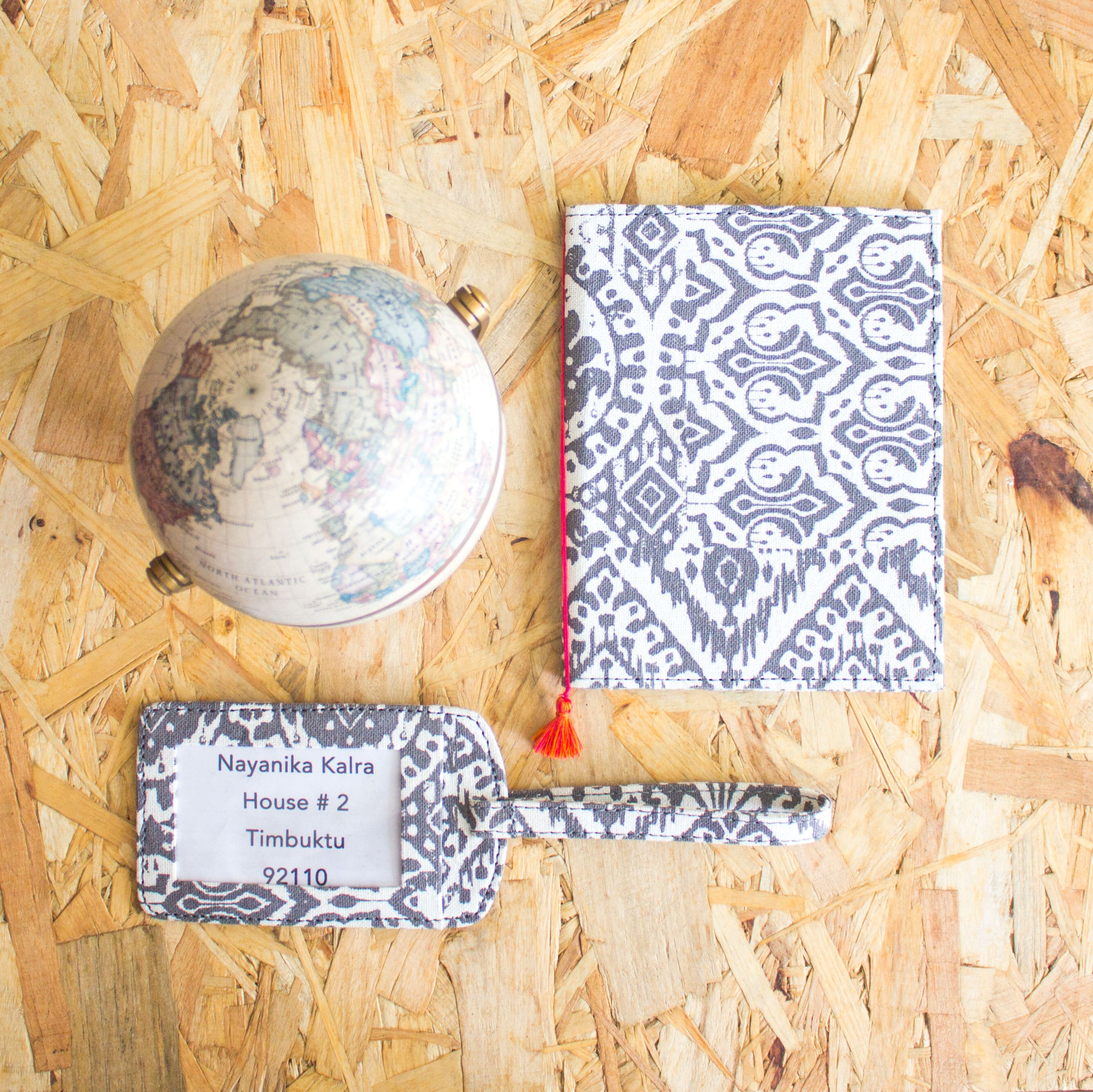 IKAT PASSPORT CASE AND LUGGAGE TAG