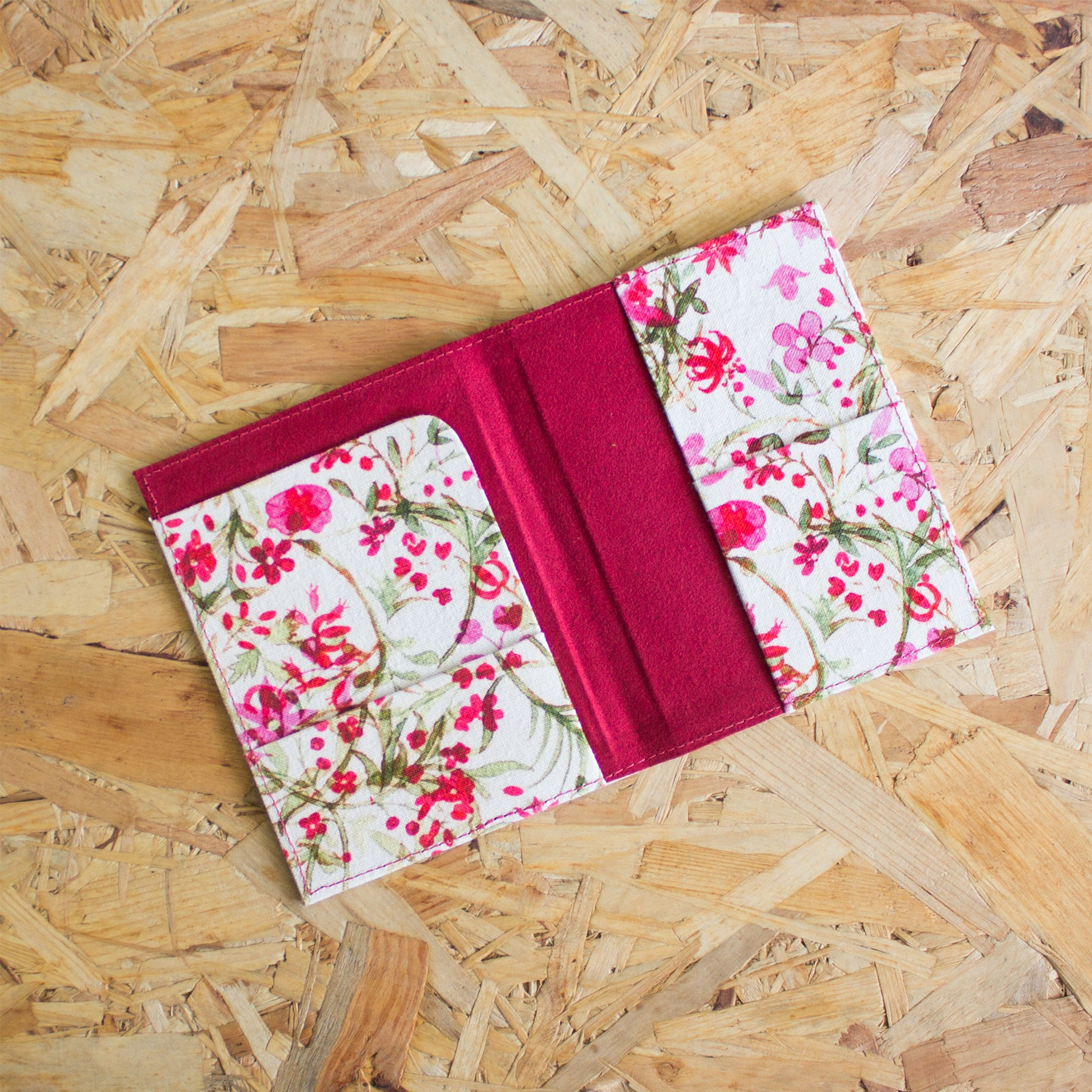 FLORAL PASSPORT CASE