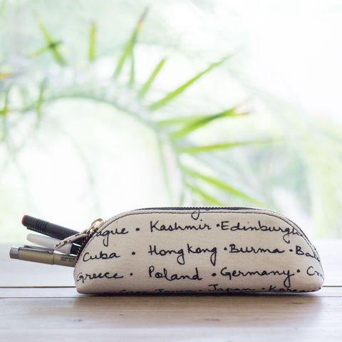 WANDERLUST TRAVEL PILLOW WITH EYE MASK