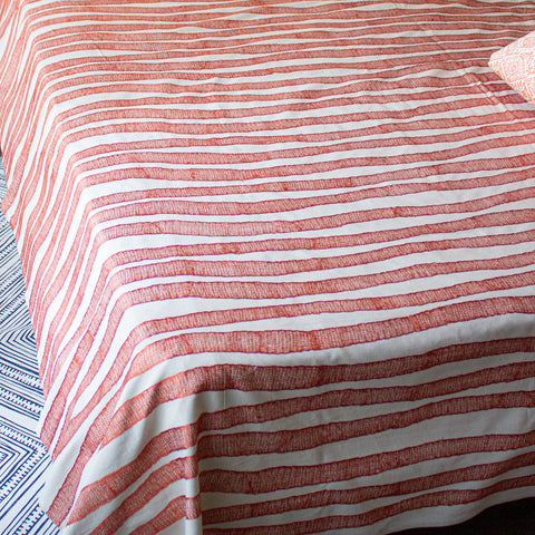 RUST IKAT DUVET COVER