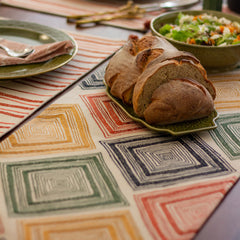 SAHARA EMBROIDERED TABLE RUNNER