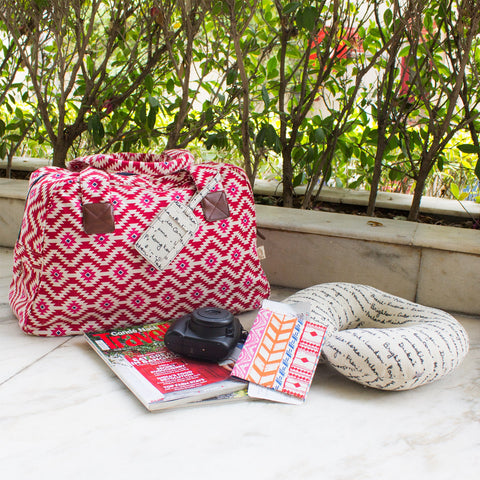 IKAT TRAVEL PILLOW WITH EYE MASK