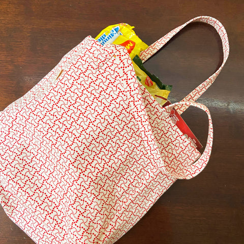 RED SHOPPER BAG BAG