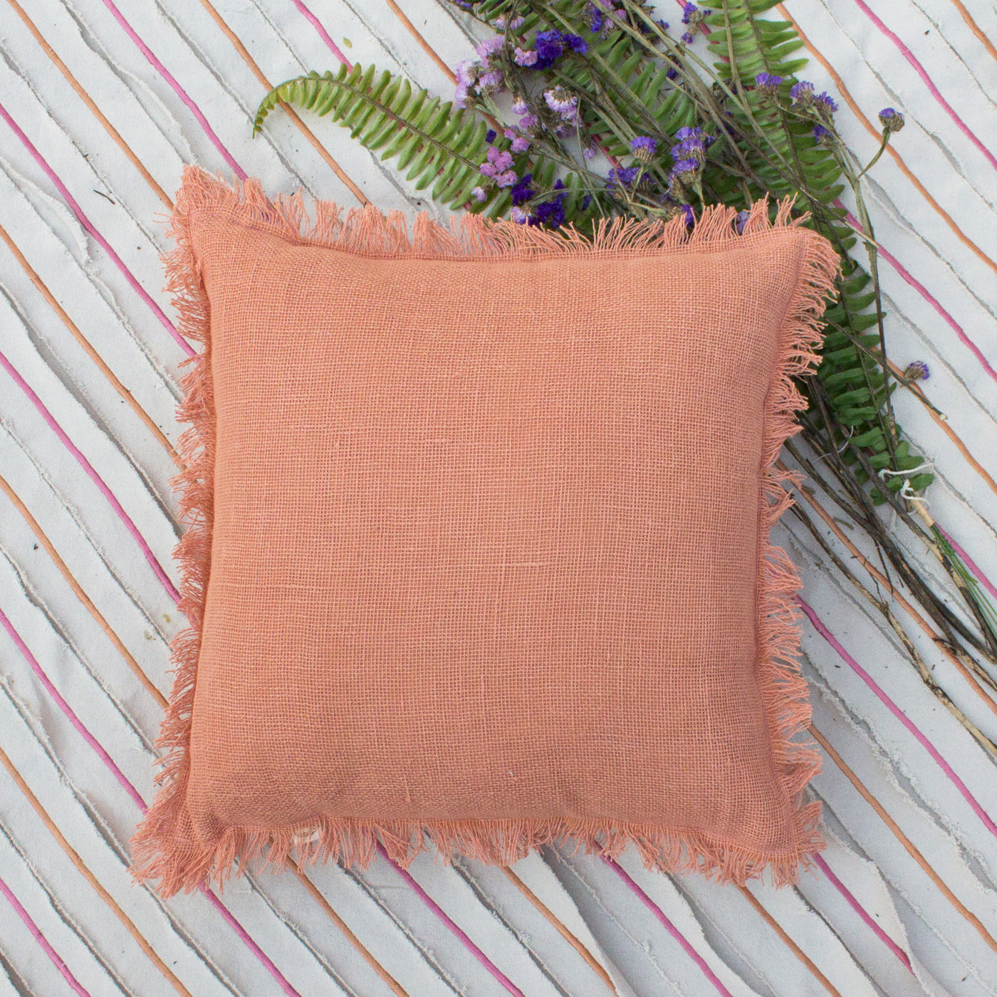 ORANGE BLOSSOM CUSHION COVER