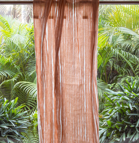 ORANGE BLOSSOM SHEER CURTAIN