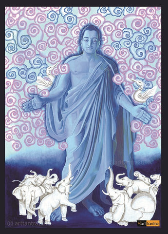 Guiding Buddha art tantra Painting