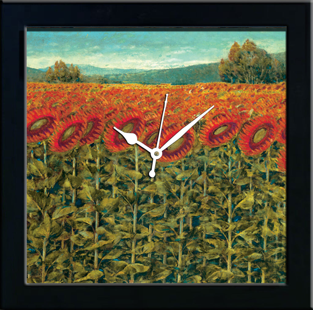 Sunflowers wall clocks arts prints