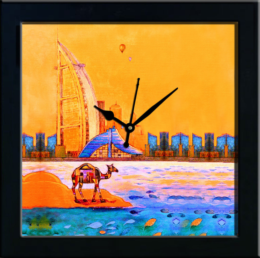 Burj Al Arab & Jumeirah wall clocks arts prints