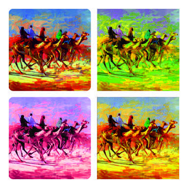 Camel Race coaster arts prints