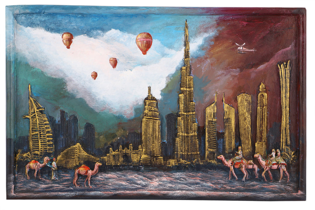 Dubai city of Gold arts prints