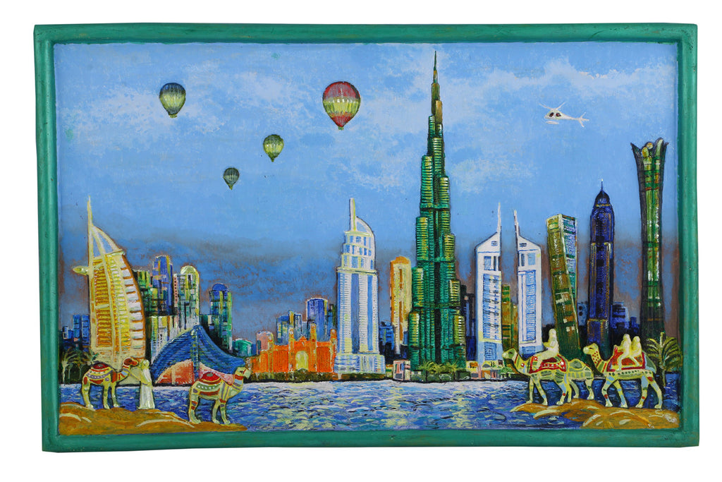 Dubai skyline arts prints