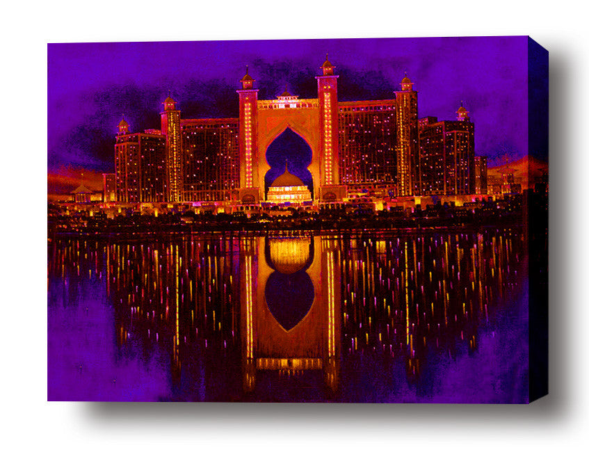 Atlantis reflection stretched canvas arts prints