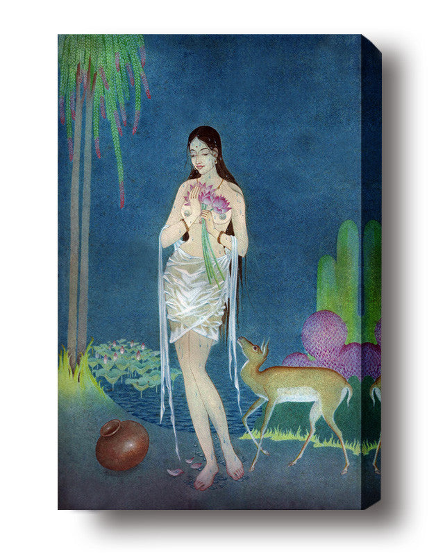 Apsara stretched canvas arts prints