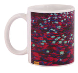 Waterlilly in blue water mugs arts prints