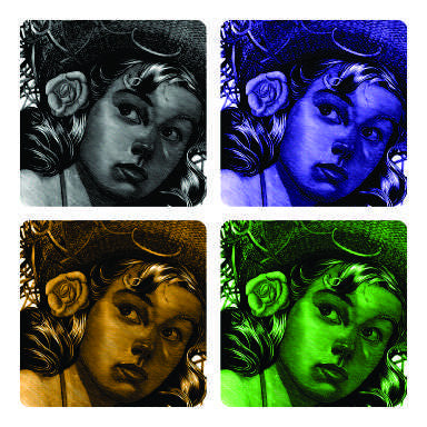 Girl with hat coaster arts prints
