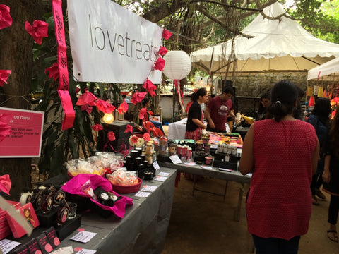 Lovetreats pop up shop in a market in Bangalore