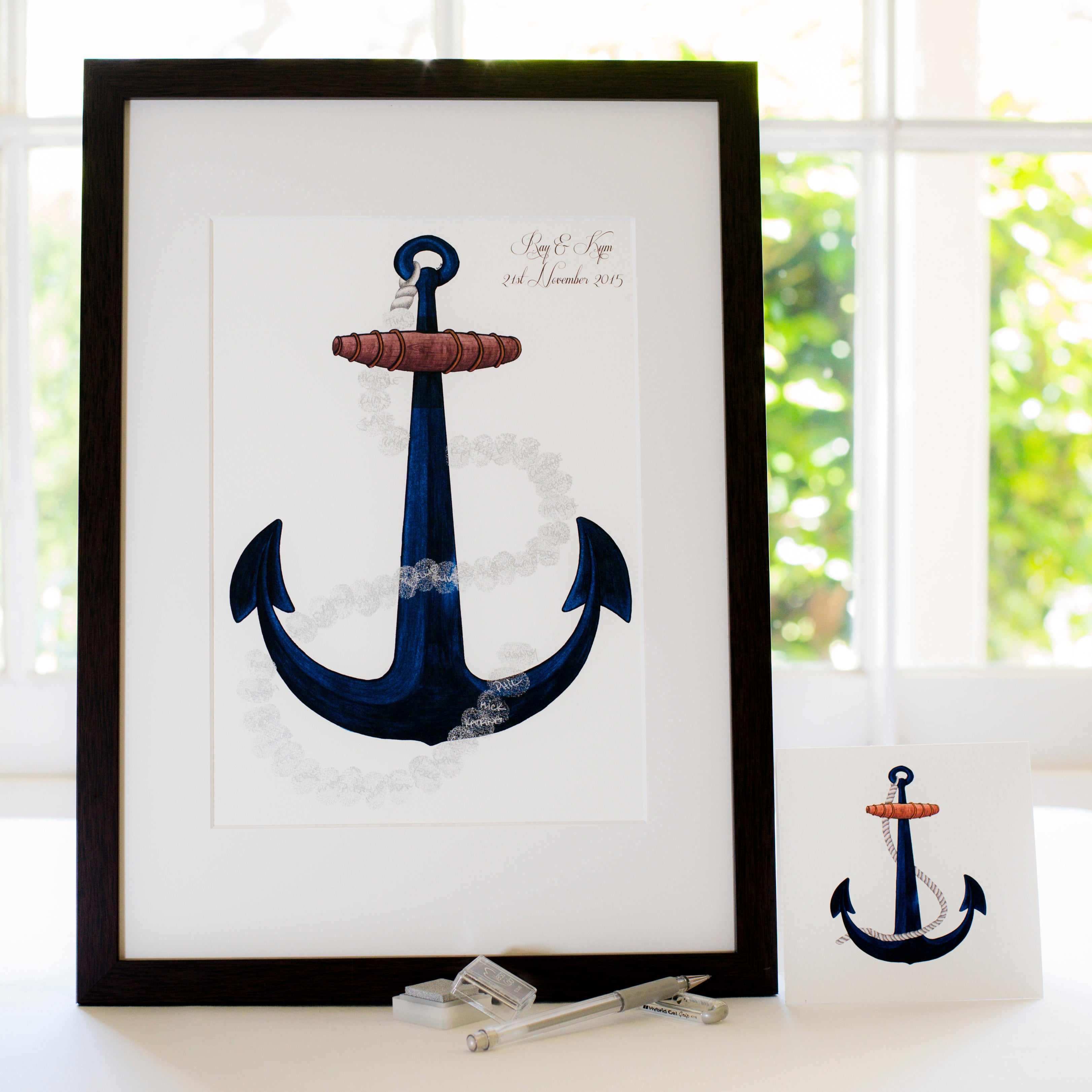 Anchor - Nautical guestbook
