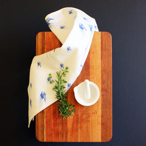 Bluebottle tea towel