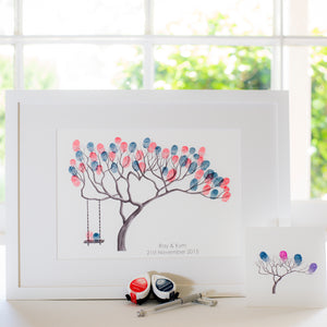 Bonsai + swing B&W guestbook