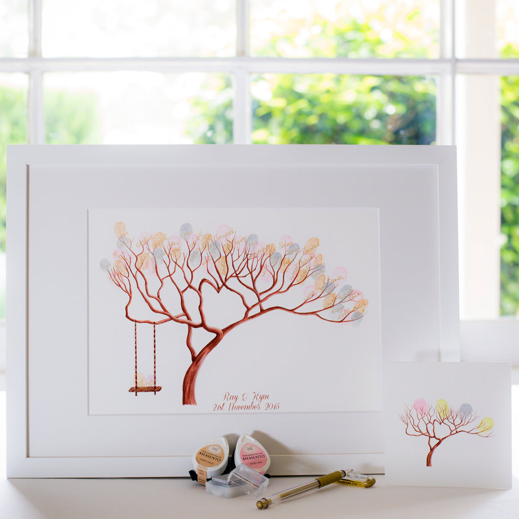 Bonsai + swing guestbook