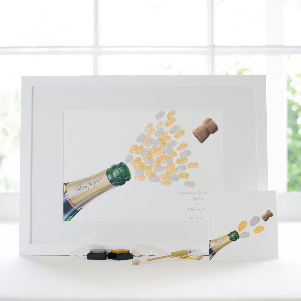 Champagne guestbook